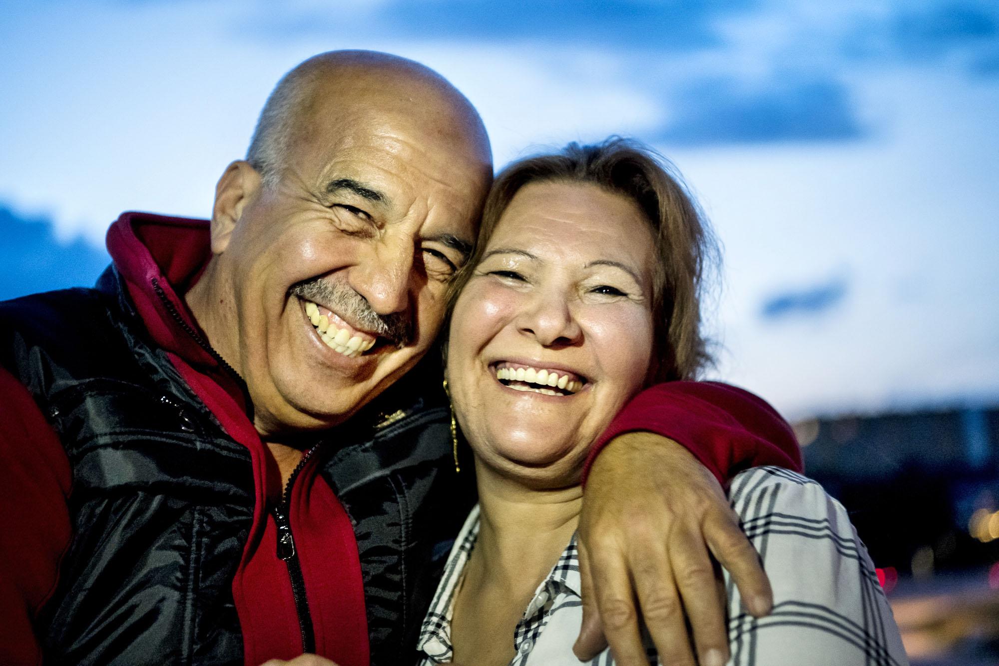 Kamilia och Hussein. Bild: Alexander Mahmoud.