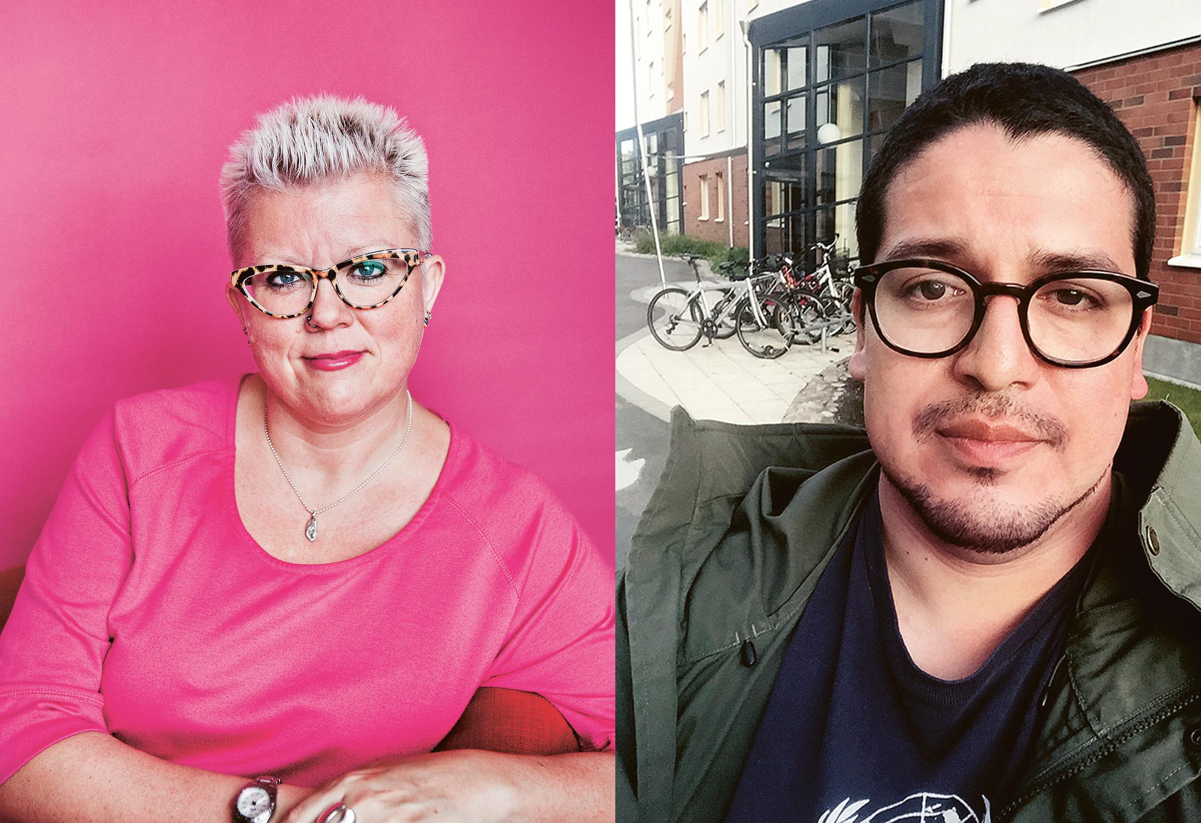 Suzann Larsdotter är auktoriserad sexolog och sexualupplysare på RFSU. Fox Foxhage är kurator och sexualupplysare och svarar på barns frågor om kropp och knopp i Kamratposten