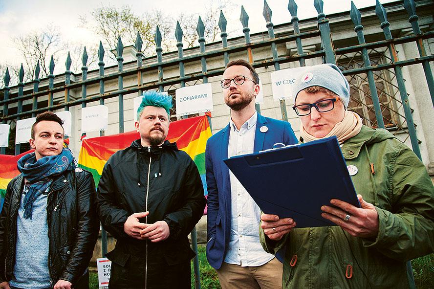 Manifestation mot övergreppen i Tjetjenien. Bild: Mattias Lundblad.