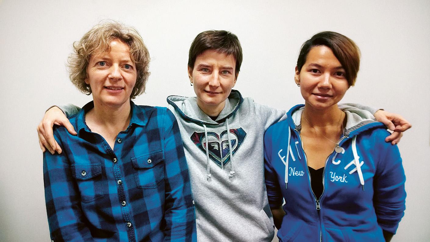 Manny de Guerre, Gulya och Natasha Kim. Bild: K Super.