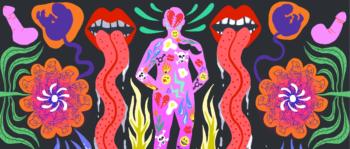 Illustration om hormoner.
