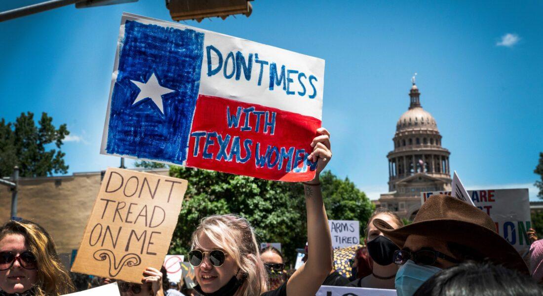 Demonstration för aborträtten i Texas